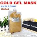 1 кг 24 К золото маска для лица крем гель для отбеливания увлажняющий против морщин против старения оборудование для больниц 1000 г салон красоты продукты
