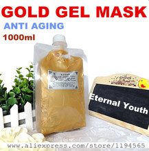 1KG 24k Gold Facial Mask Cream Gel Whitening Moisturizing Anti-wrinkle Anti Aging Hospital Equipment 1000g Beauty Salon Products