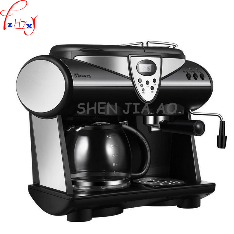 1pc 220V Business / home Italian American coffee machine Automatic 20bar pump pressure Italian / American coffee machine 1pc 220v business home automatic italian coffee machine 1 2l coffee machine intelligent stainless steel italian coffee machine