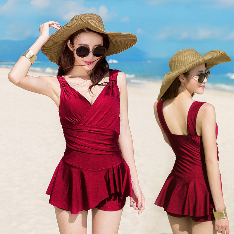 2017 Sexy Push Up Dress One Piece suit Boxers Pleated Show Thin Swimsuit Bathing Suit For Women Girl Swimwear Beachwear M-2XL 2017 sexy push up dress one piece suit boxers pleated show thin swimsuit bathing suit for women girl swimwear beachwear m 2xl