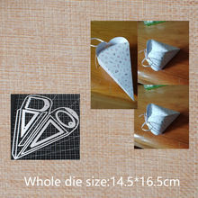 Conical box Metal Cutting Dies  for DIY Scrapbook gift box  Paper Card Decorative Craft Embossing Die 145*165 mm 1 200x90x200 mm die cast iron box amplifier enclosure steel white extrusion diy industrial metal box enclosures