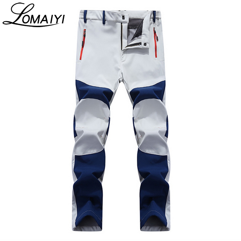 LOMAIYI NEW Men's Winter Casual Pants Men Fleece Lining Sweatpants Breathable Warm Mens Trousers Black Zipper Pants,AM201-in Casual Pants from Men's Clothing