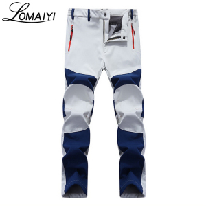 Image 1 - LOMAIYI NEW Mens Winter Casual Pants Men Fleece Lining Sweatpants Breathable Warm Mens Trousers Black Zipper Pants,AM201
