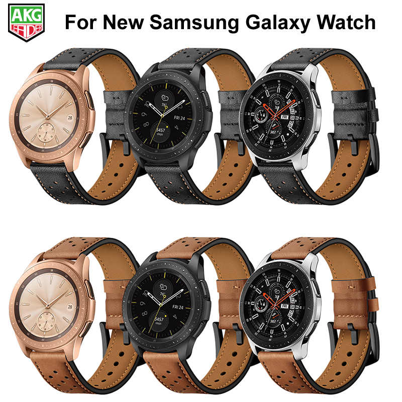 все цены на For Samsung Watch Newest Genuine Leather Pot Series Watch Band Strap For Samsung Galaxy S4 Watch 42mm 46mm S3 S2 Gear Sport онлайн