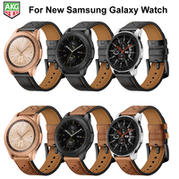 For Samsung Watch Newest Genuine Leather Pot Series Watch Band Strap For Samsung Galaxy S4 Watch 42mm 46mm S3 S2 Gear Sport