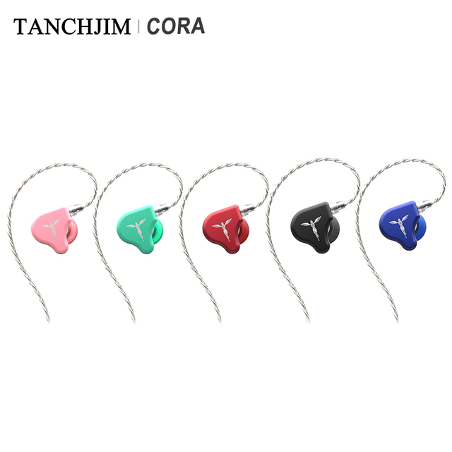 TANCHJIM CORA Dynamic Driver HiFi Audio In-ear Earphone with Sliver-plated OFC cable Macaron color earbuds for Xiaomi Huawei 1