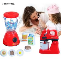 Kitchen Toys Set Kids Food Microwave Oven Bread Machine Simulation Tableware Pretend Play For Children DIY Set Creative Gift