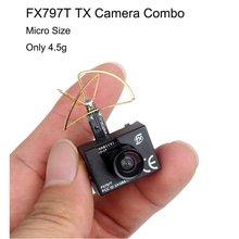 5.8G 25mw Super Mini Light Image Transmission with 520TVL Camera Racing Drone Image Transmission Combo
