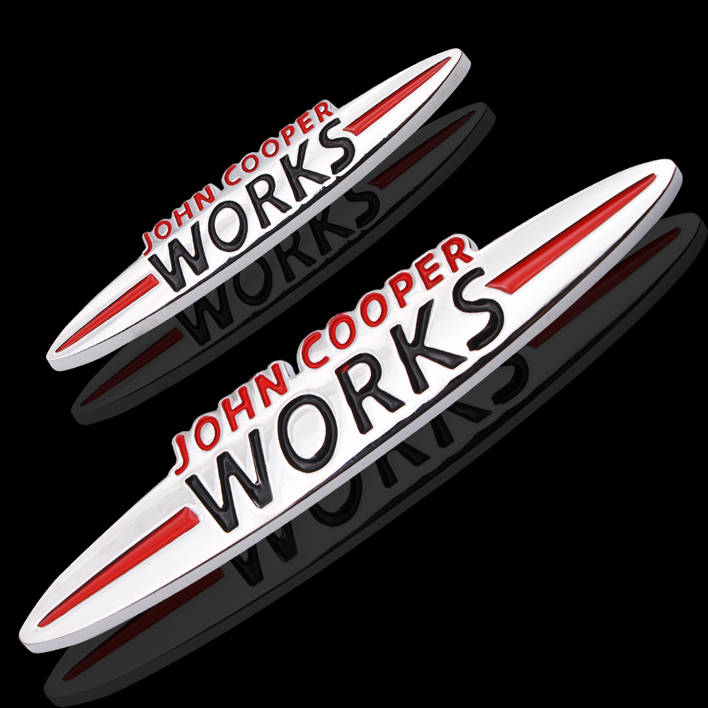 3D Metal Car Rear Trunk Badge Side Sticker Rear Emblem Letters Stickers For MINI Cooper S ONE Countryman John Cooper Works R61