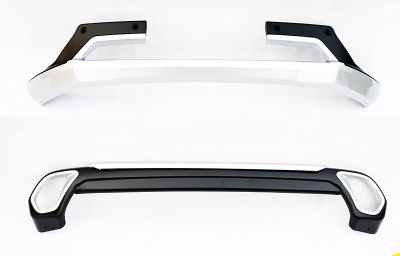 Car Accessories ABS Front+Rear Bumpers Car Bumper Protector Guard Skid Plate fit for 2016 MITSUBISHI Outlander