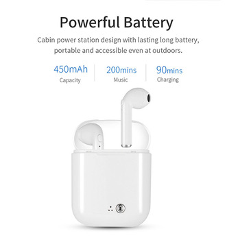 Mini Bluetooth Earphone Headphones with Microphone Sport Headset Wireless Earbuds with Charging Box for Apple iPhone Earphone