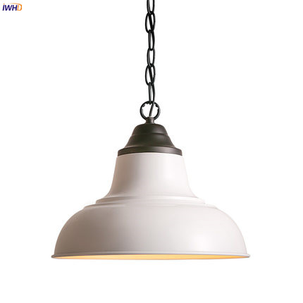 IWHD Loft Style Ameican LED Pendant Light Living Room Iron Metal Edison Vintage Lamp Industrial Lighting Hanging Lights