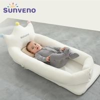 Sunveno New Baby Cribs Bed Portable Newborn Crown Infant Bedding Baby Nest Sleep Bassinet Nursery Kids Toddler Bed Baby Care