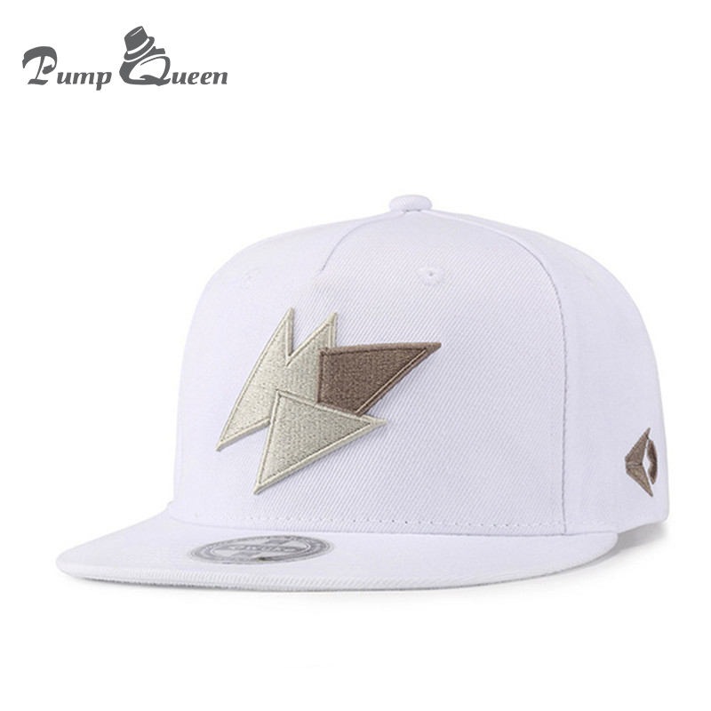 Pump Queen Lightning Embroidery Baseball Cap Hip Hop Hat Snapbacks Flat  Brim Bones Gorra Sports Snapback Caps For Men Women Caps e27c602541c