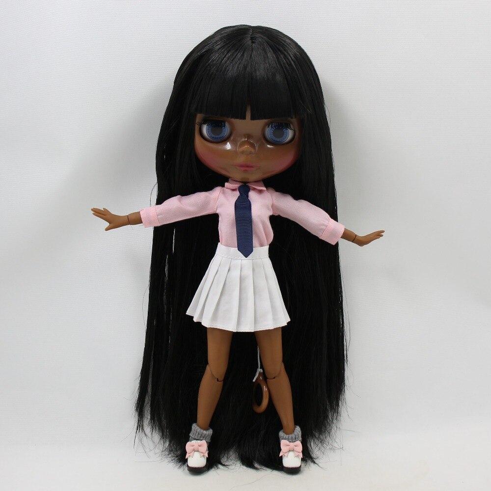 ICY fortuin dagen fabriek blyth pop super black skin tone darkest huid zwart haar VETTE HAAR 280BL9601 normale/joint body 1/6 30cm-in Poppen van Speelgoed & Hobbies op  Groep 3
