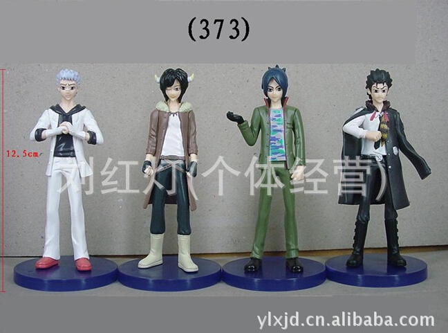4pcs/set Katekyo Hitman Reborn Q version Action Figures PVC brinquedos Collection Figures toys for christmas gift free shipping image
