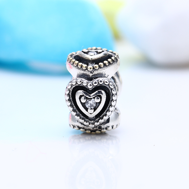 100% 925 Sterling Silver Fit Original Pandora Bracelet Luxury Celebration of Love Charm Beads for Jewelry Making Gift