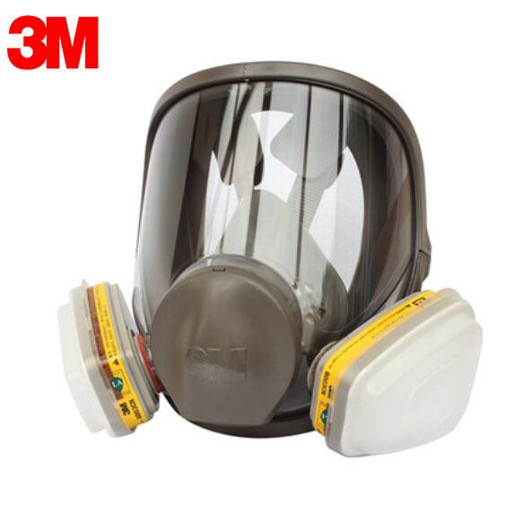 3 M 6800 + 6003 Careta Completa de Respiradores Reutilizables Filtro de Protección máscara Contra Vapores Orgánicos y Gases Ácidos NIOSH y LA Norma LT080