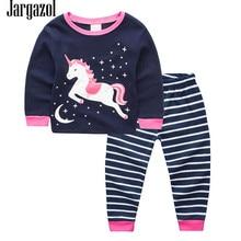 Jargazol Unicorn Party Pajamas for Girls Infantil Cartoon Printing Children Clothing Baby Girls Pijamas Vetement Enfant Fille