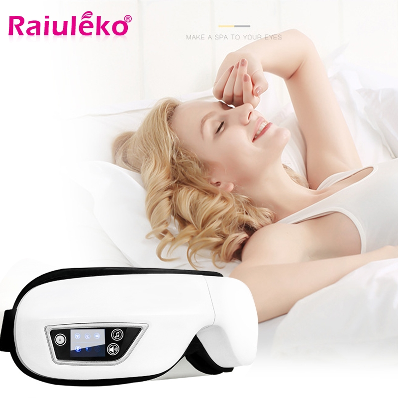 Bluetooth Rechargeable Wireless Eye Massager Pressotherapy For Eyes Visual Protection Machine Vibration Heating Air Pressure