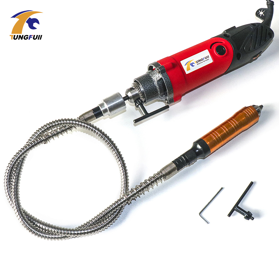 Tungfull Electric Drill Engraver Kit Metalworking Mini Electric Drilling Machine Power Tool Tools Grinder Flex Shaft Machine 220v mini electric drilling machine variable speed micro drill press grinder pearl drilling diy jewelry drill machines