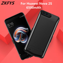 ZKFYS 6500mAh High Quality Ultra Thin Fast Charger Battery Cover For Huawei Nova 2S Portable Power Bank Stand Case
