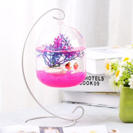 O.RoseLif Happy Life Aquariums Hang Aquarium Glass Mini Hydroponic ...