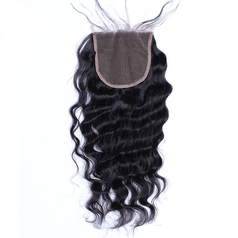 Lace Closure Brazilian Hair Loose Wave Human Hair Closure With Baby Hair 4x4 Part Natural Black Remy Honey Queen Hair Products