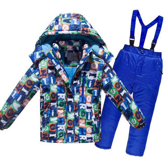 Toddler Boy Clothes 4~12T Teenage Winter Children Waterproof Ski Suit Kids Jacket Coat Parka Snowsuit Girls Outdoor Set Outwear