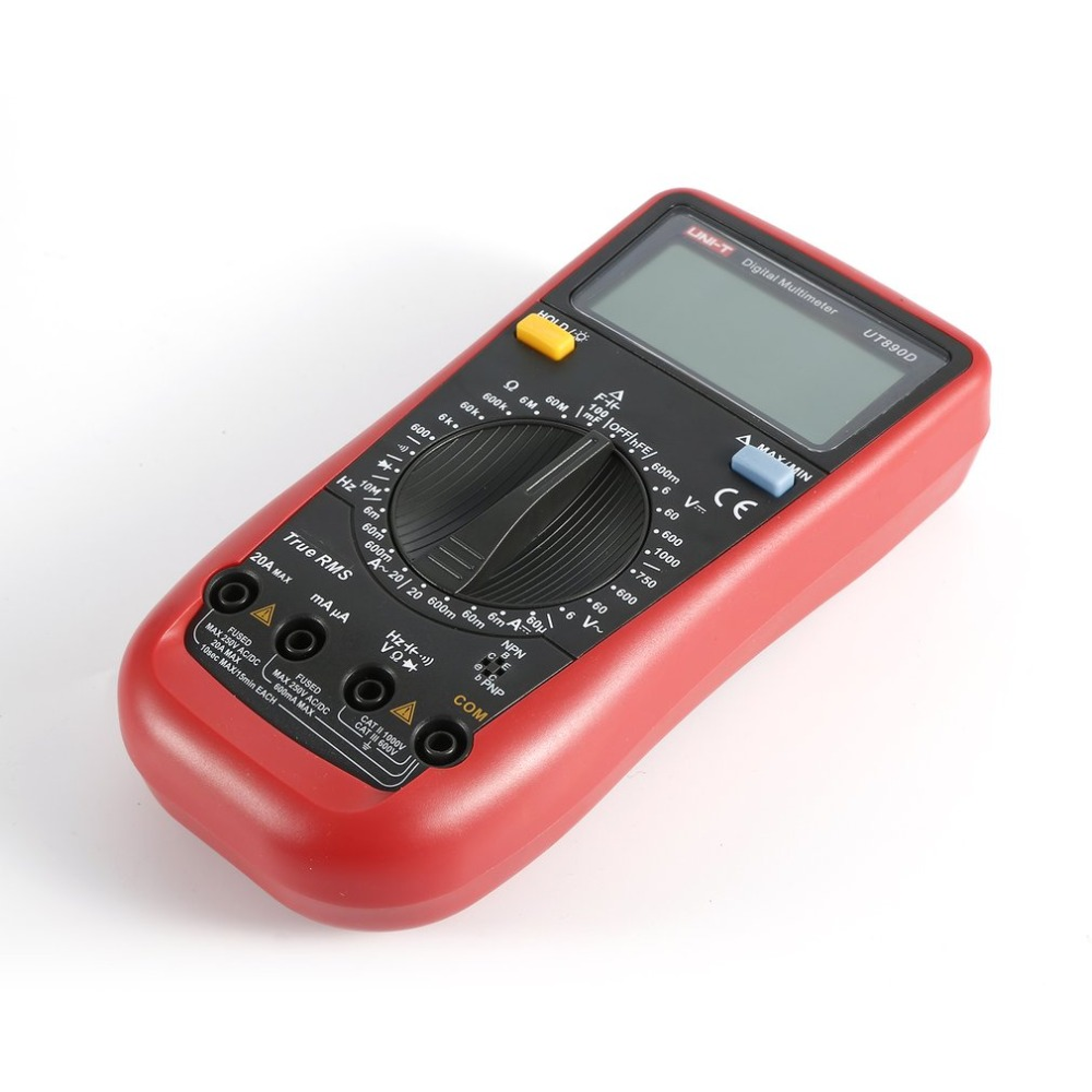 Digital Multimeter UNIT DC/AC Voltage Current Meter Handheld Ammeter Ohm Diode Capacitance Tester 5999 Counts Multitester hyelec ms89 2000 counts lcr meter ammeter multitester multifunction digital multimeter tester backlight capacitance inductance page 5
