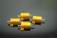 5Pieces 10W Aluminum Housed Power Wirewound Resistors 10W 0.1R-1R~10R~100R~150R~300R~1K~10K 5% Resistance Free Shipping