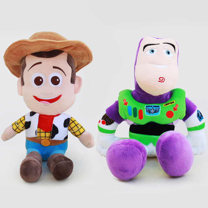 20cm Toy Story 4 Woody Buzz Lightyear Soft Plush Toy Stuffed Doll Figure Toys For Children Cartoon Kids Christmas Gifts 1pcs