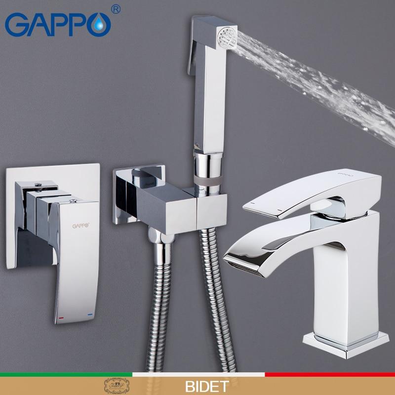 GAPPO máquina de lavar torneira misturadora de chuveiro handheld bidé pulverizador wc Bidês wc bidé duche muçulmanos wall mount mixer bidé