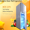 137L Double Door Refrigerator Household Vertical Type Top-Freezer Bottom-Cold Frostless Storage Refrigerator BCD-137C