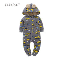 Chrismas Baby Rompers Clothes Baby Clothing Winter Newborn Baby Boy Girl Clothes Fleece Jumpsuit Overalls Baby