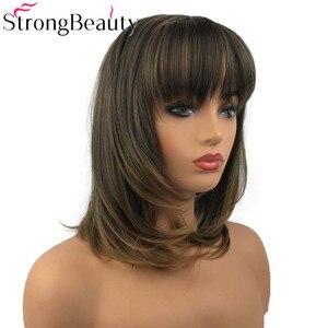 Image 3 - 強力な美容合成天然ストレート長かつらビッグバンキャップレス女性の髪