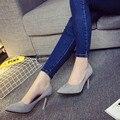 2017 Verão Nova alta-sapatos de salto alto, Os Dedos Apontados Com Boca Rasa Sapatos Matagal Sapatos Sexy das mulheres Profissional. DFGD-109