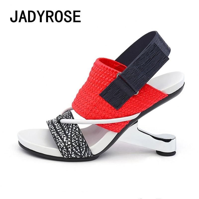 160e33a877d Women Gladiator Platform Sandals 8cm Strange Heel Female Prom Dress Summer Shoes  Woman Sexy High Heels Wedges Footwear Stiletto