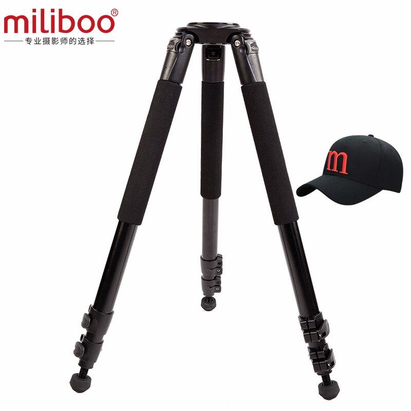 miliboo MTT701A 삼각대 알루미늄 합금 헤드가없는 전문 카메라 삼각대 DSLR 캠코더 용 모노 포드