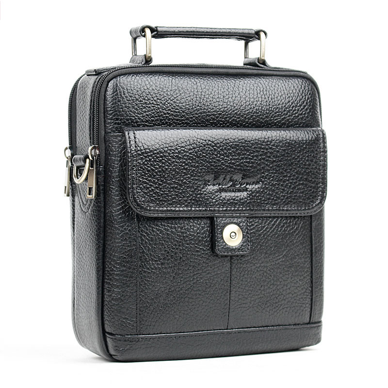 ФОТО NEW Fashion 100% genuine leather men bag head layer cowhide small messenger bag Brand design casual bag business bag