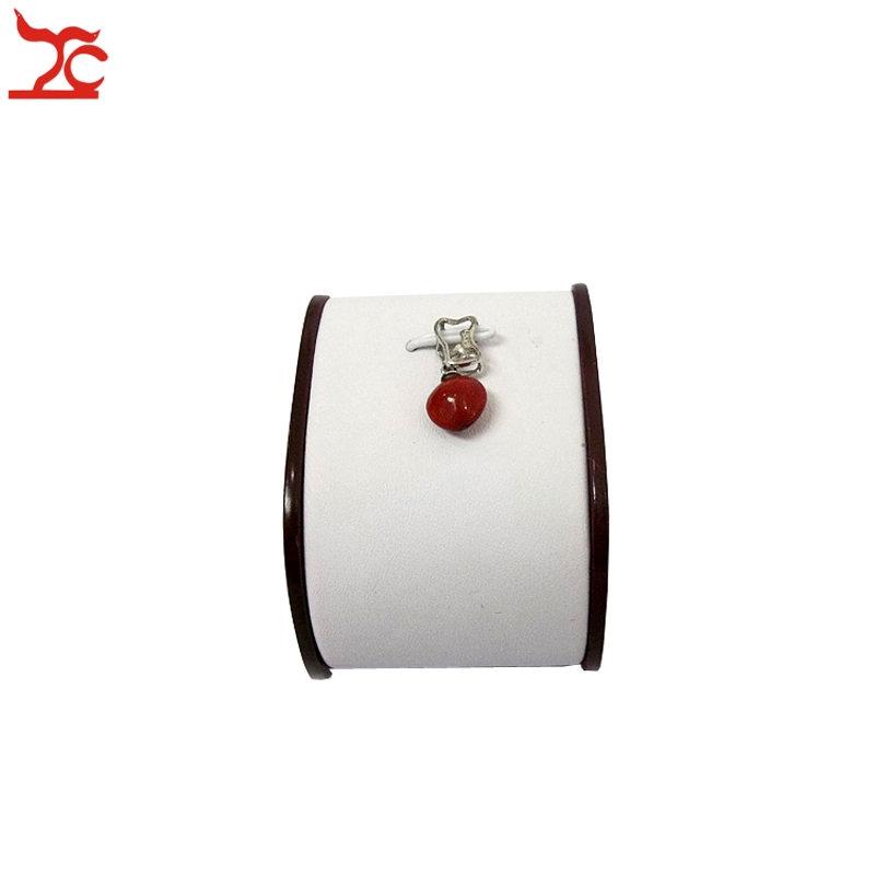High Grade Red Painted Pendant Display Stand Necklace Holder Jewelry Display Rack Organizer with Superior White Leatherette Tray