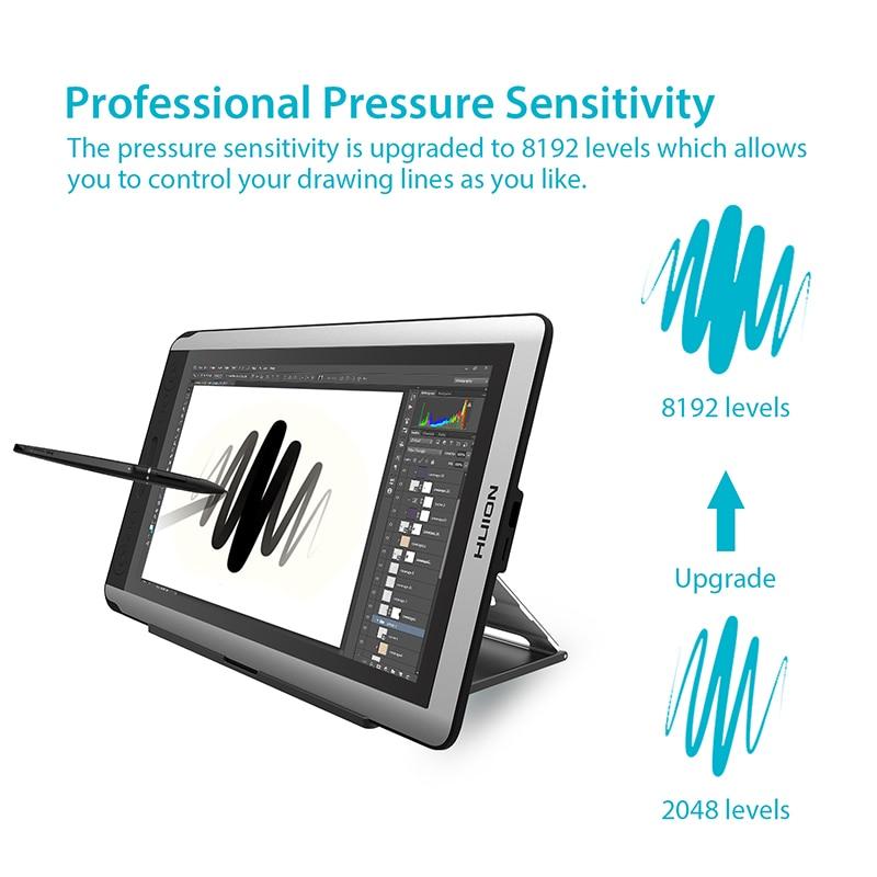 HUION KAMVAS GT-156HD V2 stylo moniteur d'affichage 15.6 pouces graphique numérique dessin tablette moniteur avec 8192 niveaux et cadeaux gratuits - 5
