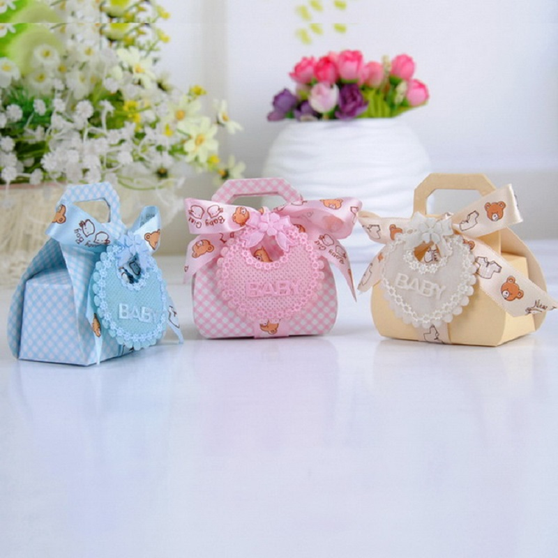 Bear Shape DIY Paper Gift Box Christening Baby Shower Party Favor Boxes  Paper Candy Box With Bib Tags U0026 Ribbons12pcs In Gift Bags U0026 Wrapping  Supplies From ...