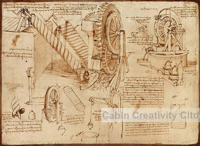 wheel led Picture - More Detailed Picture about Free Shiping, Leonardo Da Vinci manuscript ...