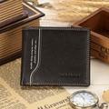 Men Retro Soft Genuine Leather Wallet Horozontal Vertical Purse Card Holder 2016 New