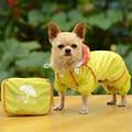 Small Pet Dog Hoody Jacket Rain Coat Waterproof Clothes Slicker Jumpsuit Apparel