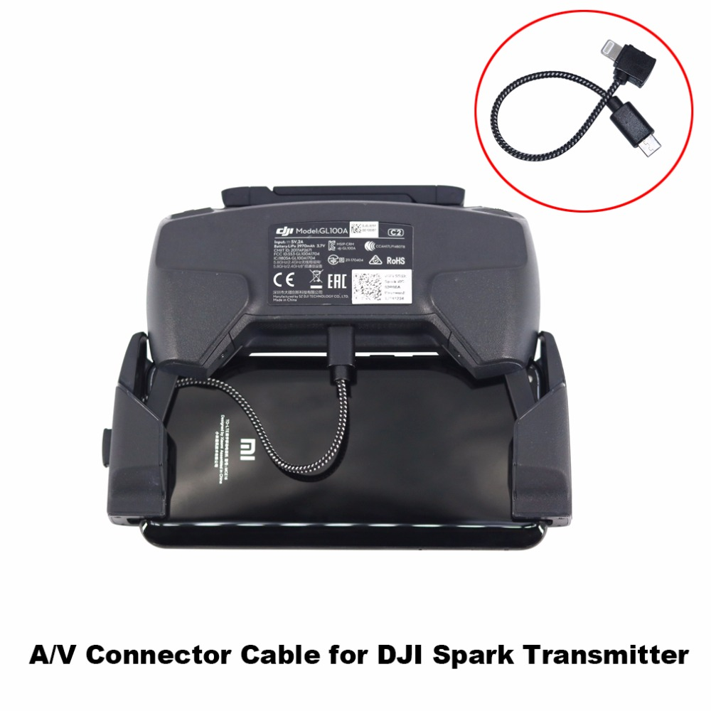 Transmitter Remote Control OTG Data Cable Phone Tablet Connector Adapter For DJI SPARK Drone For IOS Type-C Micro-USB Spare Part