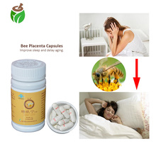 3 Bottles Anti insomnia sleeplessness treatment Chinese herbal bee placenta extract capsule pills improve sleeping anti aging developement and standardisation of anti diarrhoeal herbal capsule