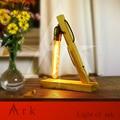 Arca de madera moderna lámpara de mesa para sala de estar dormitorio de la lámpara de luz led lámparas de mesa lámparas de mesa de noche