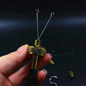 Image 3 - Royal Sissi fly tying Dubbing Spinner with 4 head attachments Brass ball bearing loop Dubbing twister delux fly tying tools